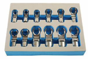 Laser Tools 7165 Flexible Crows Foot Wrench Set 3 8 d 12pc