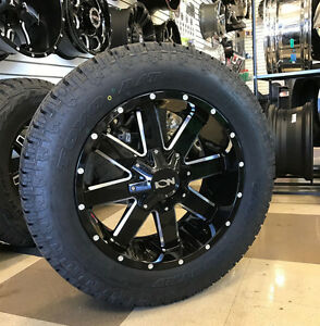 20 Ion 141 Gloss Black Wheels 33 Toyo At2 Tires Package 6x5 5 Chevy Gmc 6 Lug