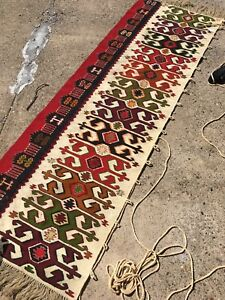 Mid Century Modern Rug Textile Wall Hanging 7 X2