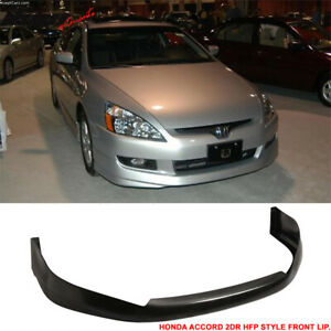 Compatible With 03 05 Honda Accord Hfp Style Coupe Front Bumper Lip Urethane