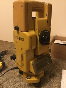 Topcon Gts 300 Total Station With Spare Prism Included