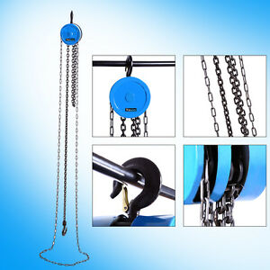 Alloy Steel 500kg 3m Hand Manual Engine Hoist Block And Tackle Chain Fall Lift