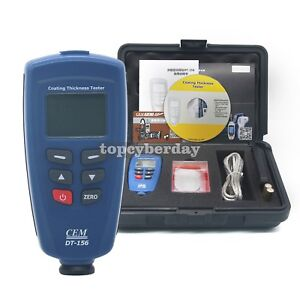 Cem Dt 156 Professional Paint Coating Thickness Tester Gauge Digital Meter