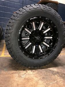 20 20x10 D620 Hardline Black Wheels 33 Fueltire Package 8x6 5 Chevy Gmc 8lug