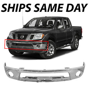 New Chrome Steel Front Bumper Face Bar For 2005 2017 Nissan Frontier With Fog
