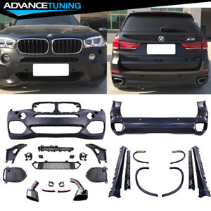 Fits 14 17 Bmw F15 X5 M tech Complete Kits Full Conversion Black Pp