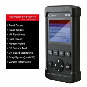 Launch Creader 6001 Obd2 Scan Tool Code Reader Print Data Via Pc Auto Scanner