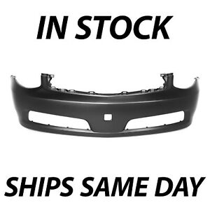 New Primered Front Bumper Cover Fascia For 2005 2006 Infiniti G35 Sedan 4 Door