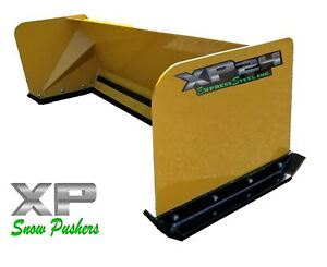 6 Low Pro Snow Pusher Box Local Pick Up rtr Skid Steer Bobcat Case Caterpillar