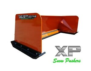 8 Low Pro Kubota Orange Snow Pusher Box Local Pick Up Skid Steer Bobcat Case