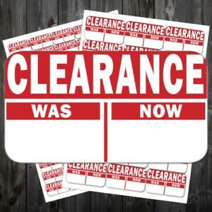 Bright Red Sale Reduced Clearance Price Point Stickers Sticky Labels act