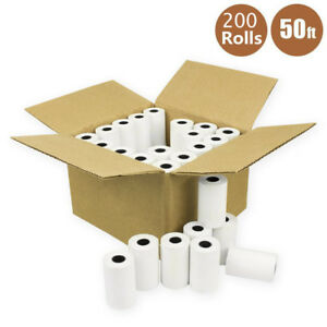 200 Rolls 2 1 4 X 50 Thermal Receipt Paper Credit Card Cash Register Pos Case