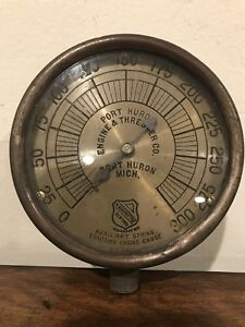 Early Ashcroft Port Huron Engine Thresher Steam Traction Sun Dial As Gauge