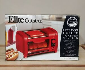 Hot Dog Sausage Roller Cooker Machine With Bun Warmer Toaster Oven Combo