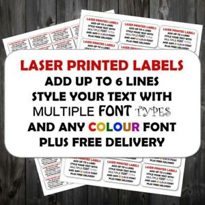 Personalised Self Adhesive Pre Printed Mini Return Address Labels p