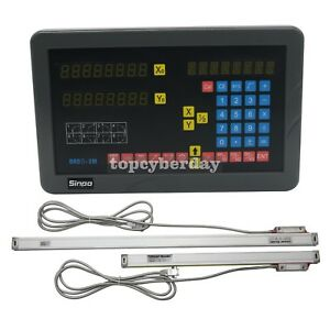Sinpo 2 Axis Digital Readout Dro Kit With 2pcs Linear Scales For Milling Machine