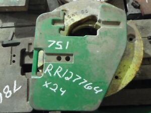 John Deere 8 000 Front Suitcase 100 Lb Weight Part rr127764 Tag 751