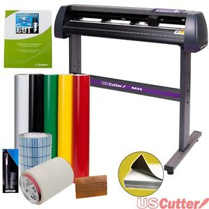 Vinyl Cutter Uscutter Mh 34in Bundle Sign Making Kit Design Cut Software Tools