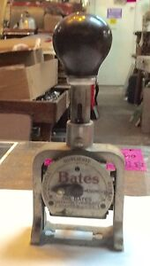 Vintage Bates Automatic Numbering Machine 6 Wheel Style E