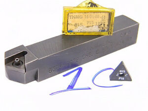 Lot 1c Kennametal Carbide Indexable Turning Tool Holder With Inserts tnmg