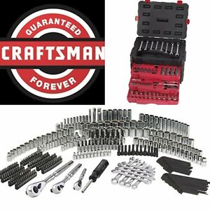 Craftsman 320 Pc Mechanics Tool Set Universal Sae Metric Ratchet Socket Kit Case