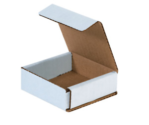 200 Pack Strong Light Mailer 3 x3 x1 White Small Folding Mailing Corrugated Box