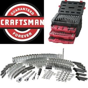 Craftsman 450 Pc Mechanics Tool Set Universal Sae Metric Ratchet Socket Kit Case