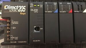 Automation Direct Logic Koyo Plc D2 04b D2 230 D2 08nd3 D2 08tr Rack Chasis