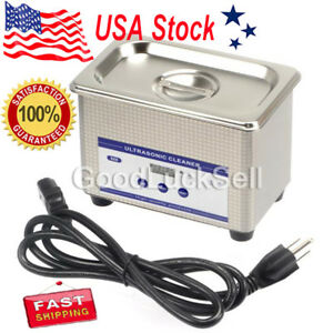 0 8l Digital Ultrasonic Cleaner Cleaning Bath Jewelry Eyeglasses Dental Parts Us