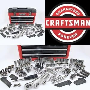 Craftsman 260 Pc Mechanics Tool Set Universal Sae Metric Ratchet Socket Kit Case