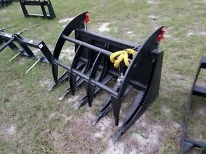 48 Mini Skid Steer Tractor Brush Grapple Dual Cylinder Q c 48 Inch