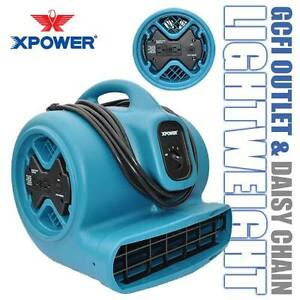 Xpower X 600a The Best 1 3hp Industrial Air Mover Fan W Gcfi Power Outlets