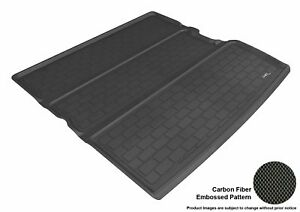 Fits 09 15 Honda Pilot Cargo Liner Carbon Pattern Black Custom Fit Floor Mat