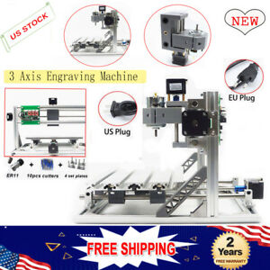 3 Axis Mini Cnc Router Engraving Machine Milling Wood Grbl Control Er11 a Shaft