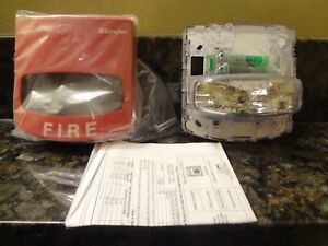 Simplex 4906 9101 Wall Mount Fire Alarm Strobe Free Shipping