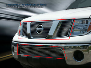 Fits 2005 2008 Nissan Pathfinder Frontier Billet Grille Front Grill Combo