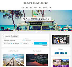new Design Travel Vacation Store Website Business For Sale Auto Content