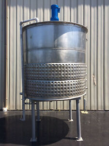 Process Equipment 1200 Gallon Stainless Steel Jacketed Processing Tank Foodgrade