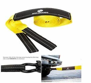 Recovery Tow Strap Kit Truck Saver Up To 30000 Lbs Emergency Rope Loop End 20 Ft