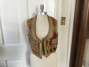 Vintage Ottoman Turkish Gipsy Vest Metallic Thread