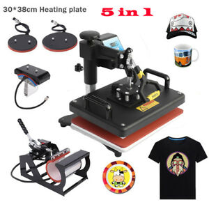15 x12 5in1 Combo T shirt Heat Press Transfer Machine Sublimation Swing Away Hs