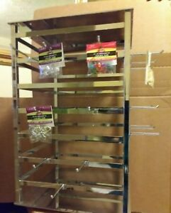 4 Way Spinning Jewelry Tower Rack Metal Stand 12 X 12 With 24 Hooks New
