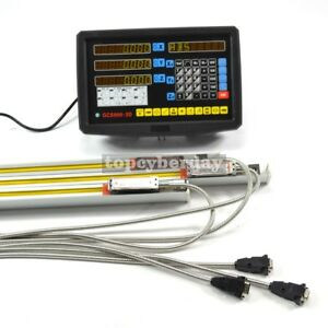 3 Axis Readout Digital Display Dro 3 Linear Scale For Milling Lathe Machine