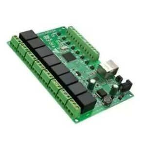 8channel Relay Network Ip Relay Web Relay Dual Control Rj45 Interface Board