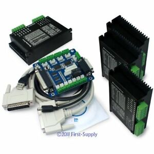 Cnc Router Diy Kit 5 Axis Breakout Board 4x M542 Stepper Motor Driver 1 0a 4 5a