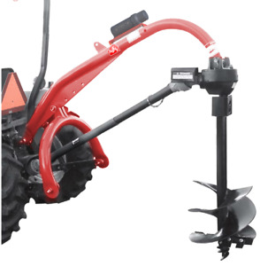 Tool Tuff Pole star 1500 Super Heavy Duty 3 pt Tractor mounted Post Hole Digger