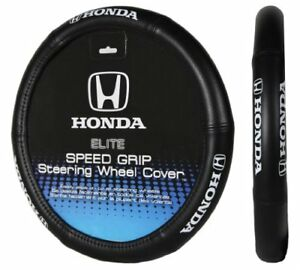 For Honda Civic Black Cushion Grip Synth Leather Steering Wheel Cover Accord 15