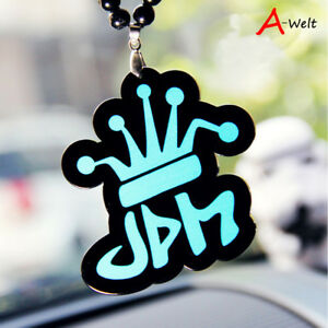 Jdm Crown Illmotion Car Rearview Mirror Hanging Charm Dangling Pendant Ornament
