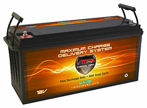 Slr200 Solar Wind Power Backup 200ah 12v Deep Cycle Vmax Agm Battery Hi Capacity
