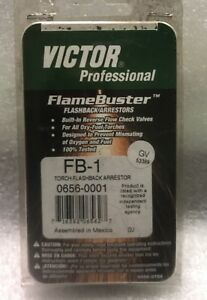 Victor Professional Flame Buster Torch Flashback Arrestor 0656 0001